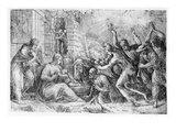 The Birth of Christ (Etching) Giclee Print by Andrea Schiavone