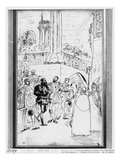 Francis I and Charles V at the Abbey Church of Saint-Denis, C.1811 Giclee Print by Baron Antoine Jean Gros