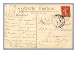 Handwritten Postcard Sent to Madame J. Monet (Ink on Paper) (Verso for Recto See 233965) Giclée-tryk af  French