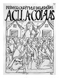 The Chosen Virgins (Woodcut) Giclee Print by Felipe Huaman Poma De Ayala