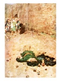The Stoning of Stephen Giclee Print by William Hatherell