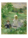 Beside a Lake, 1883 (Oil on Canvas) Giclee Print by Berthe Morisot