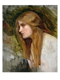 Head of a Girl, c.1896 Giclee Print by John William Waterhouse