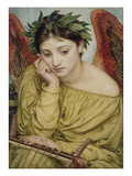 Erato, Muse of Poetry, 1870 (W/C on Paper) Premium Giclee Print by Edward John Poynter