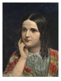 Rosa Brett, 1855 (Oil on Board) Giclee Print by John Brett