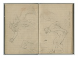 Diana at the Bath, from a Sketchbook, 1886 (Pencil on Paper) Giclee Print by Berthe Morisot