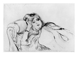 Young Woman at Rest, 1889 (Drypoint) Giclee Print by Berthe Morisot