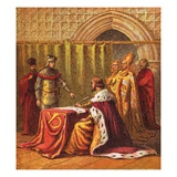 Richard Ii Abdicates Giclee Print by  English