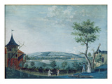 The Hermitage and the Old Castle in the Park at Le Raincy, 1754-93 (Gouache on Paper) Giclee Print by  Carmontelle