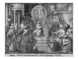 Life of Christ, Jesus Among the Doctors, Preparatory Study of Tapestry Cartoon Giclee Print by Henri Lerambert