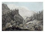 View of the Chamonix Valley, 1789 (Coloured Engraving) Giclee Print by Jean Antoine Linck