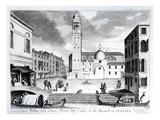 A View of Santi Apostoli, Venice (Engraving) Giclee Print by  Italian