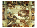 The Creation of Adam, Detail from the Sistine Ceiling, 1511-12 (Fresco) Reproduction procédé giclée par Michelangelo Buonarroti