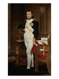 Napoleon Bonaparte (1769-1821) in His Study, 1812 Giclee Print by Jacques-Louis David