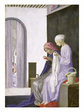 Mary in the House of Elizabeth, 1917 (Oil on Canvas) Giclee Print by Robert Anning Bell