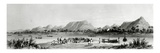 Mountains and Market Canoes Near Bokwen Giclee Print by William Allen