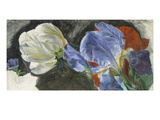 A Study of Flowers (Oil on Paper) Giclee Print by Emily Stannard