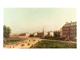 New Horse Guards from St. James's Park Giclee Print by  Canaletto