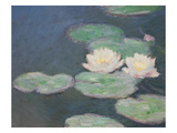 Waterlilies, Evening; Detail Giclee Print by Claude Monet