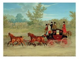 The Exeter Royal Mail on a Country Road Giclee Print by James Pollard