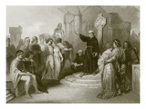 A Dominican Friar Preaching a Crusade Giclee Print by  English