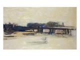 Study for Charing Cross Bridge, 1899-1901 Premium Giclee Print by Claude Monet