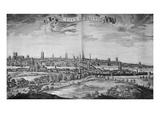 The City of Bristol (With Key), 1717 (Engraving) Premium Giclee Print by Johannes Kip
