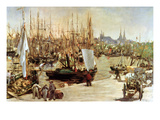 The Port of Bordeaux, 1871 Giclee Print by Édouard Manet