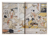 Women Eating, from a Manga (Colour Woodblock Print) Giclee Print by Katsushika Hokusai
