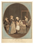 The Bouquets or Gand Ma Feast, Dedicaced to Housewives (Colour Engraving) Giclee Print by Philibert Louis Debucourt