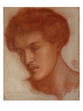 Augustus Howell, 1867 (Red Chalk on Paper) Giclee Print by Dante Gabriel Rossetti