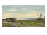 Slaughden, on the River Alde, 1899 (Oil on Board) Giclee Print by Frederick George Cotman