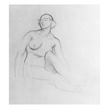 Study of a Nude Woman, 1915 (Charcoal on Paper) Reproduction proc&#233;d&#233; gicl&#233;e par Isaac Rosenberg