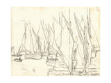 In the Port at Honfleur (Pencil on Paper) Giclee Print by Claude Monet