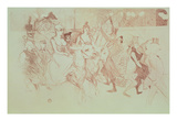 A Gala at the Moulin Rouge, 1893 (Pencil on Paper) Giclee Print by Henri de Toulouse-Lautrec