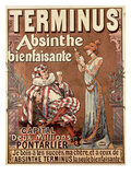&#39;Terminus Absinthe, Bienfaisante&#39;, 1896 (Colour Litho) Giclee Print by Francisco Tamagno