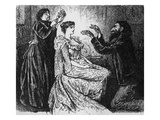 Hypnotism of Trilby by Svengali, Illustration from 'Trilby' by George Du Maurier, 1895 (Etching) Giclee Print by George L. Du Maurier