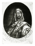 His Excellency Hamet Ben Hamet Ben Haddu Otter, Published by John Lloyd, 1682 (Mezzotint) Giclee Print by Edward Luttrell