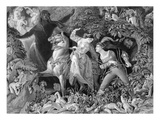 Undine, Engraved by Charles W. Sharpe (1818-99) 1855 (Etching) Giclee Print by Daniel Maclise