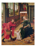 Holy Family (Oil on Panel) Giclee Print by  Master of the Magdalen Legend