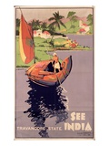 see India', 1938 (Colour Litho) Premium Giclee Print by  English