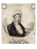 Portrait of the Wife of the Artist, 1800-01 (Pencil and Gouache) Giclee Print by Fulchran Jean Harriet