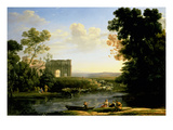 Pastoral Capriccio with the Arch of Constantinople Giclee Print by Claude Lorrain