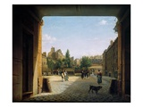 The Courtyard of the Institut De France, 1825-62 Giclee Print by Etienne Bouhot