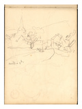 Bennecourt (Pencil on Paper) Giclee Print by Claude Monet