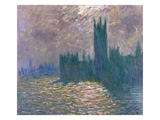 Parliament, Reflections on the Thames, 1905 Giclee Print by Claude Monet