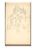 Mont Saint-Michel (Pencil on Paper) Giclee Print by Claude Monet