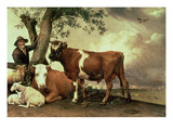 The Young Bull (Oil on Canvas) Giclee Print by Paulus Potter