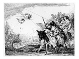 The Flight into Egypt, C.1750 (Etching) Giclee Print by Domenico Tiepolo