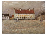 Square, Fort-Philippe, 1902 (Oil on Panel) Giclee Print by Henri Eugene Augustin Le Sidaner